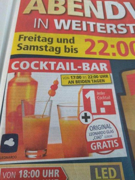 [lokal Weiterstadt] Segmüller - Cocktails für 1€ plus leonardo Glas geschenkt