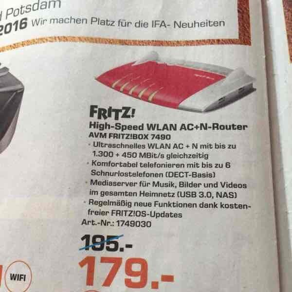 Fritz Box 7490 (Berlin) Saturn