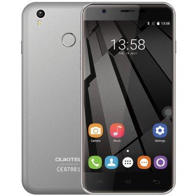 Oukitel U7 Plus LTE + Dual-SIM (5,5 HD IPS, MTK6737 Quadcore, 2GB RAM, 16GB intern, 13MP + 5MP Kamera, Fingerabdruckscanner, inkl. Band 20, kein Hybrid-Slot, 2500mAh, Android 6) für 62,56€ [Gearbest]