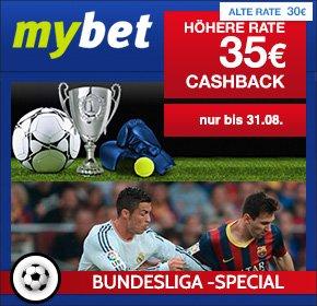 35€ Cashback für MyBet-Neukunden (Mindesteinzahlung 20€) bei Shoop (ehem. Qipu)