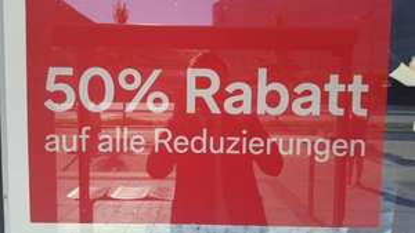 50% Rabatt auf Reduzierungen bei C&A