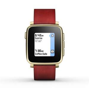 [Amazon - Prime]Pebble Time Steel Smart Watch gold