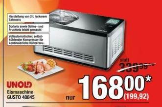 [METRO --> bis 31.08.] Unold Gusto 48845 Eismaschine