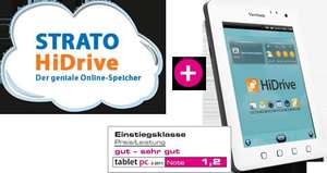 Strato HiDrive Media 100 incl. kostenlosem Tablet ViewSonic 7e
