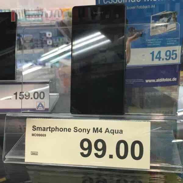 Lokal Aldi Nord (abverkauf) Sony Aqua m4 für 99 Euro inklusive Aldi-Talk Sim Karte mit 10euro guthaben. Lokal