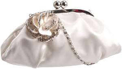 amazon Warehouse Deal Menbur Wedding Flor 82349, Damen Clutches, Elfenbein (Ivory)