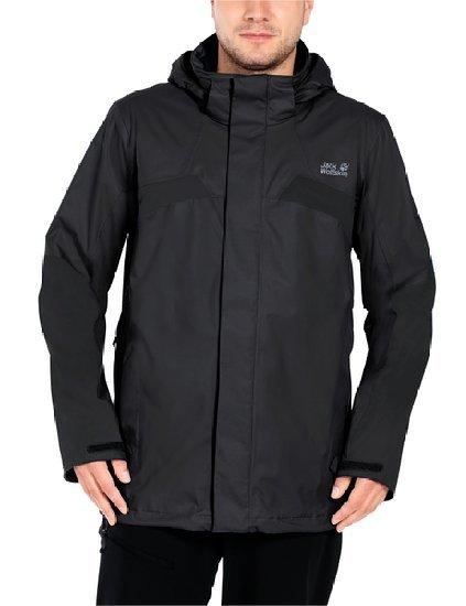 Jack Wolfskin Herren Wetterschutzjacke Topaz II Jacket, Black in XL