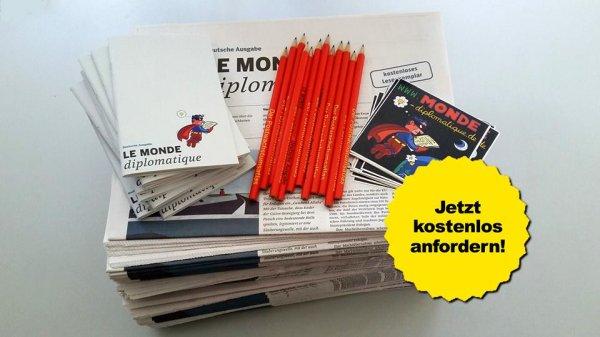 50 Ausgaben Le Monde Diplomatique (deutsch) plus Giveaways für Fachschaften