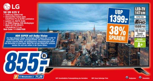 [expert-technikmarkt] LG 58UH635V HDR 855 Euro