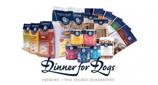 Dinner for Dogs - Hundefutter gratis testen