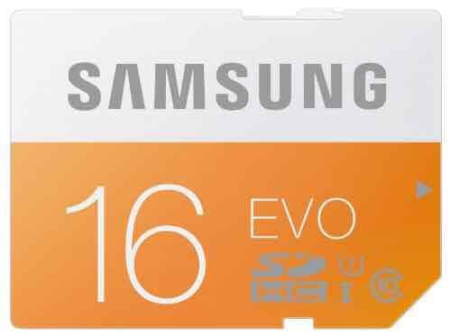 [amazon] Samsung Speicherkarte SDHC 16GB GB EVO UHS-I Grade 1 Class 10 für Foto und Video Kameras (bis zu 48MB/s Transfergeschwindigkeit)
