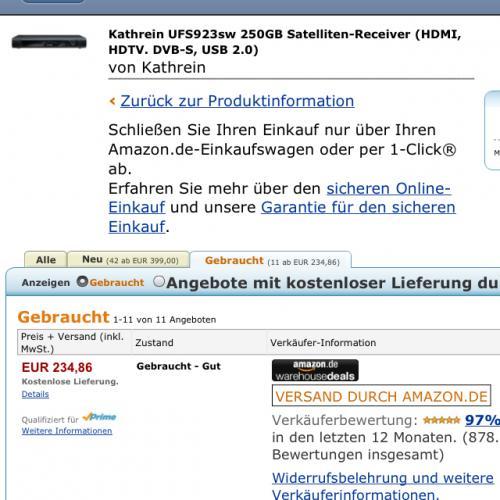 SAT-Receiver KATHREIN UFS 923 @ WHD