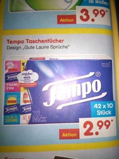 [NETTO] Tempo Taschentücher 42x10 Stück nur 2,99€