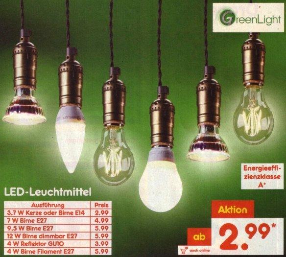 Netto MD: Dimmbare LED -Lampe, E27, 12 W, 1055 Lumen, über Ra 90, für 5,99 Euro