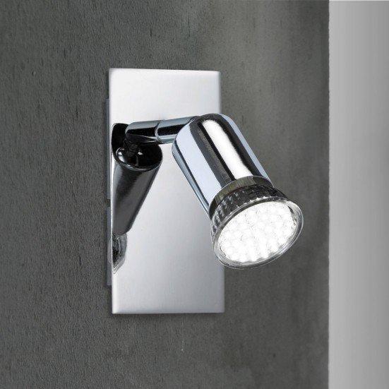 5x (in Worten: Fünf Artikel) Wofi Action Solution LED-Strahler in Chromausführung, Sockel GU10 mit Leuchtmittel, Anbieter Billig-Arena bei eBay, EUR 9,90