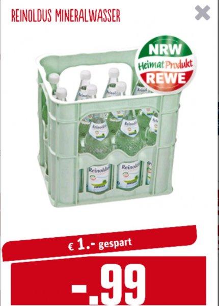 Kiste Mineralwasser in Glasflaschen [viele REWE in NRW]