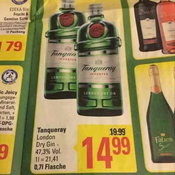 [Marktkauf] Tanqueray London Dry Gin 0,7l für 14,99