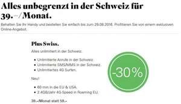 [Schweiz - Salt.ch] Alles unbegrenzt Anrufe / SMS / 4G 39.–/Monat statt 59.– bei Salt