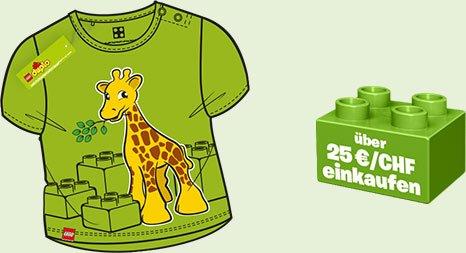 Gratis T-Shirt von Lego-Duplo beim Kauf von min. 25 € / CHF