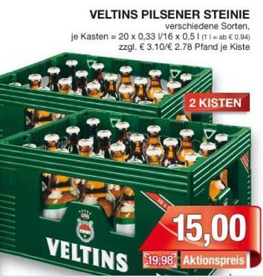 [Lokal Bielefeld] 2 Kisten Veltins (20x0,33 l oder 16x0,5 l) für 15 Euro bei Marktkauf vom 10.04-14.04.2012