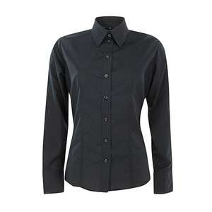 (Deal LX) Harry Kroll Damen Business Bluse 1/1 Arm schwarz für 10,98 € statt € 39,43