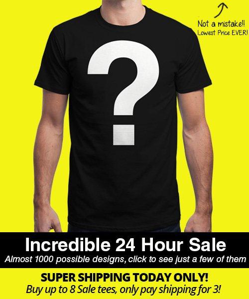 """Qwertee """"""""MEGA InsaniTEE Sale"""" = T-Shirt mit Zufallsaufdruck ab 8€"""