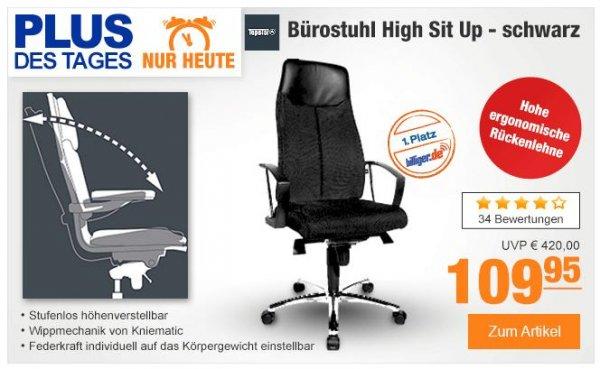 (Plus.de) Topstar Bürostuhl High Sit Up - schwarz