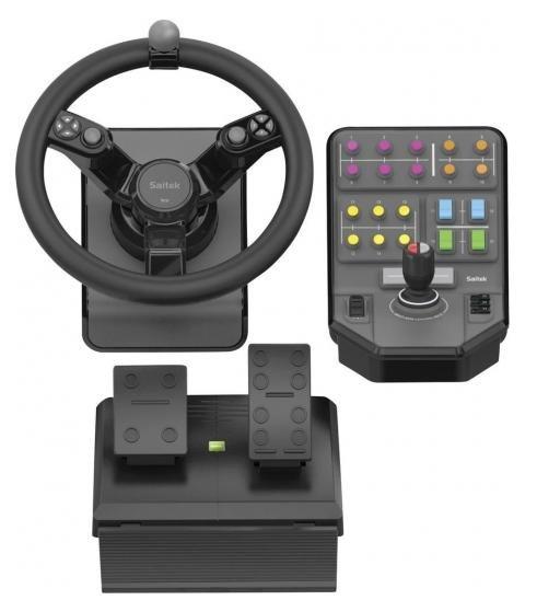 Saitek Lenkrad mit Pedalen Landwirtschaftssimulator Fernbussimulator 210€ (UVP 329€)