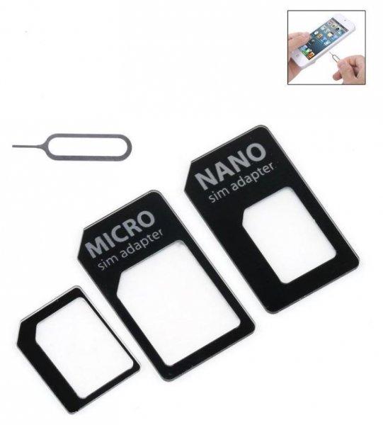 NANO SIM ADAPTER 3 in 1 / Nano-Micro-Mini für 1 €