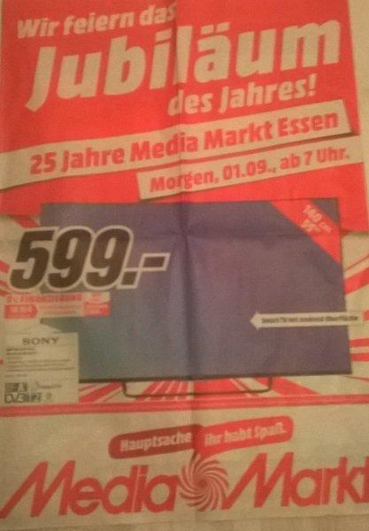 [Lokal] MediaMarkt Essen 25 Jahre, z.B. Sony KDL 55W755C 599€