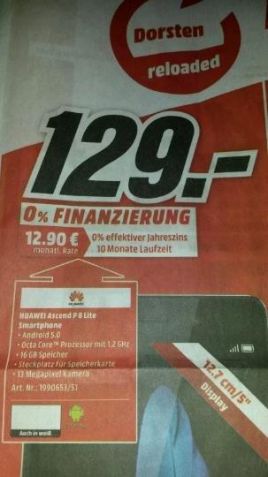 (Lokal Dorsten Mediamarkt) Huawei P8 Lite