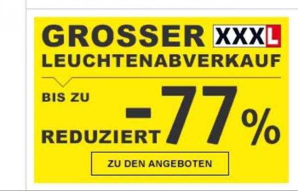 Leuchten bis zu 77% reduziert bei XXXL Lutz online