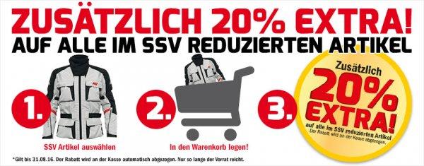 20% auf bereits reduzierte Artikel bei Hein Gericke im SSV