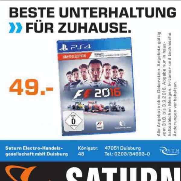 [Saturn Duisburg] [PS4] F1 2016