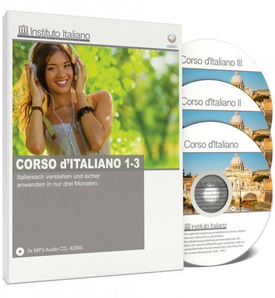 [Amazon] Corso d'Italiano I, II und III (Italienisch Audio Sprachkurs) für 49€