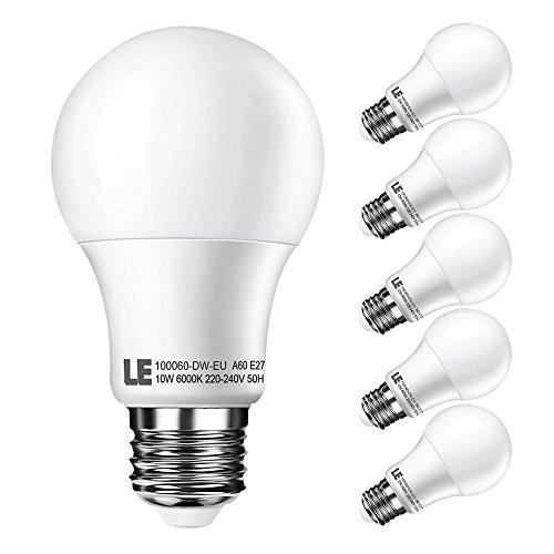 Blitzangebot für 5x 10W (60W) LEDs mit E27 Gewinde (4,4€ je Lampe)