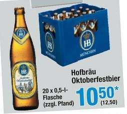 [Metro] HB Hofbräu Oktoberfestbier 20x0,5L Kasten 12,50 + Pfand