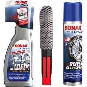 SONAX Xtreme Felgenreiniger 750ml inkl. Bürste und 400ml ReifenGlanzSpray