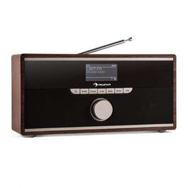Auna Weimar DAB-Radio Internet-Radio Bluetooth wallnuss