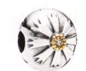 Pandora Damen-Bead Solaris 14 K Gold, Zirkonia, 925 Sterling Silber