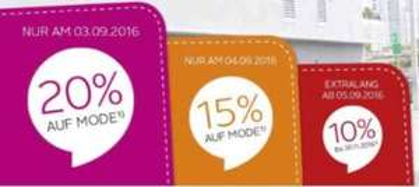 Otto.de 20% auf Mode am 03.09. - Anmeldung erforderlich