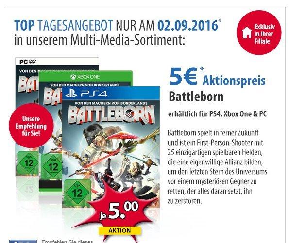 Battleborn PS4/Xbox One/PC für 5€ - Tagesangebot 02.09.2016 [Müller Filialen OFFLINE]