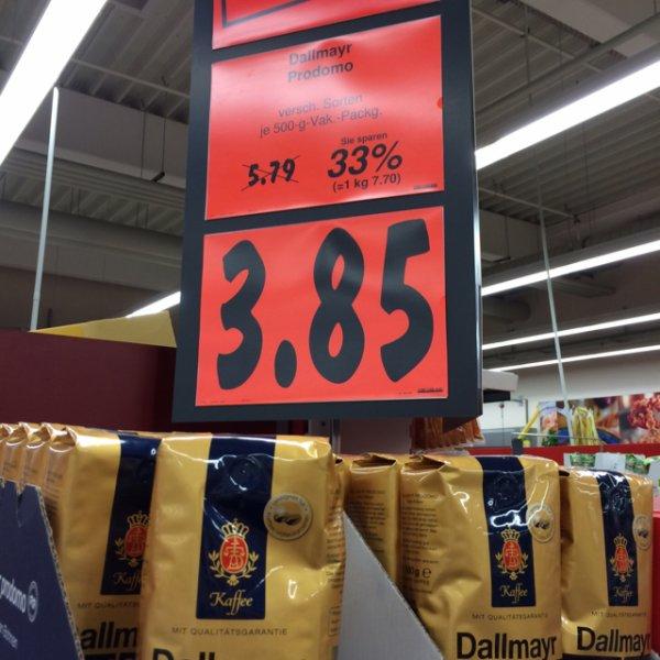 Kaufland Berlin Dallmayr Prodomo ganze Bohnen 500g 3,85 macht einen Kilopreis von 7,70€/kg