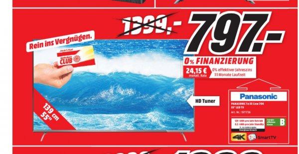 "Panasonic Viera TX-55CXW704 55"" 4K UHD 797€ idealo 1099€ LOKAL MM Leipzig Höfe am Brühl"