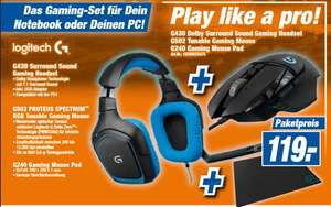 Bundesweit bei Expert: LOGITECH Gaming-Set Bundle (G502, G430, G240)