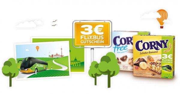 3€ Flixbus Gutschein @ Corny 6er Packs