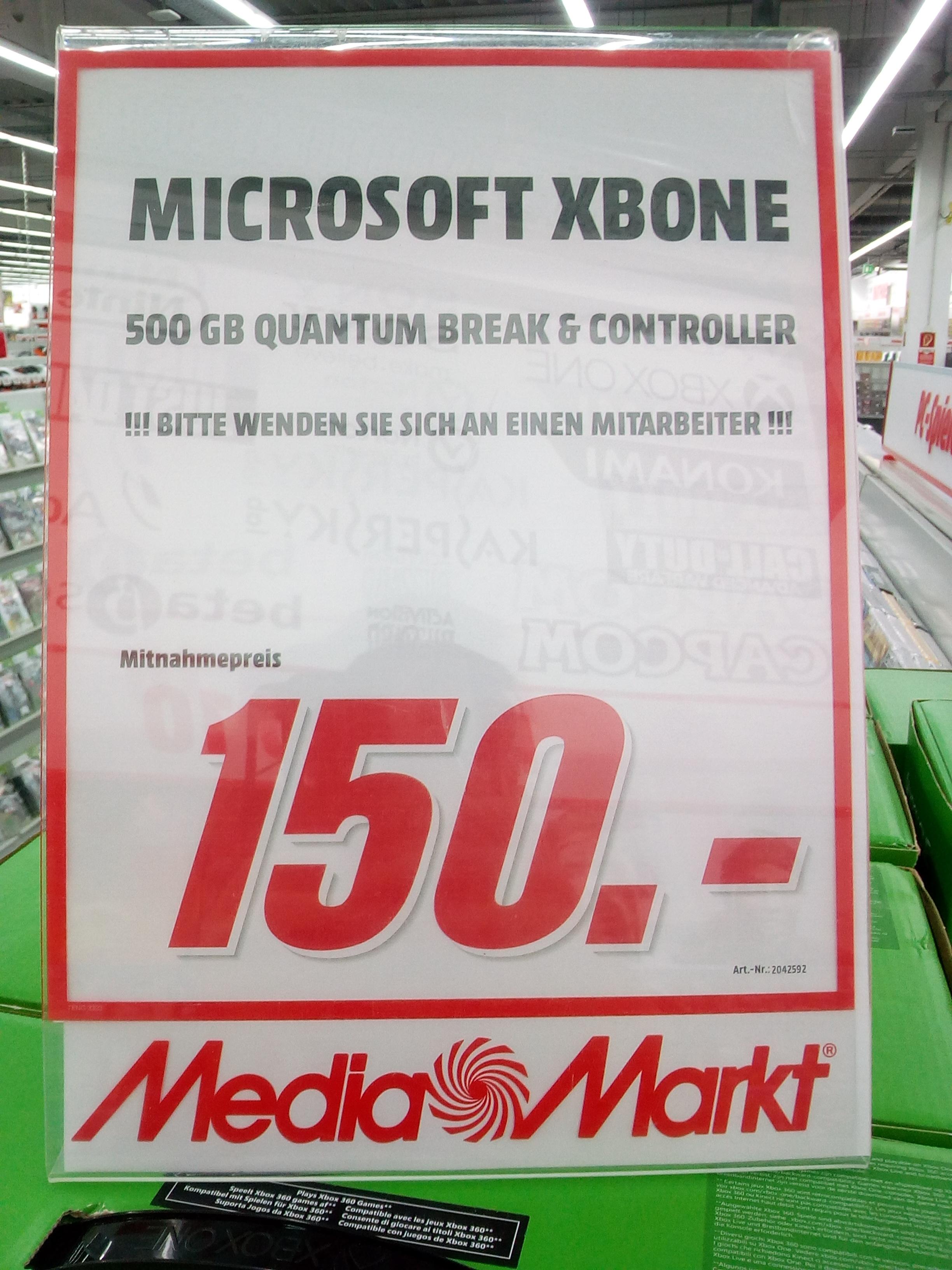 [LOKAL Media Markt Bremen Weserpark]  Xbox One, verschiedene Konsolenbundles ab 150€