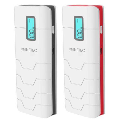 (ebay wow) NINETEC NT-578 16200mAh PowerBank mobiler Akku Ladegerät mit LED Anzeige [Schwarz oder Rot] für Smartphone Tablet für 19,99€