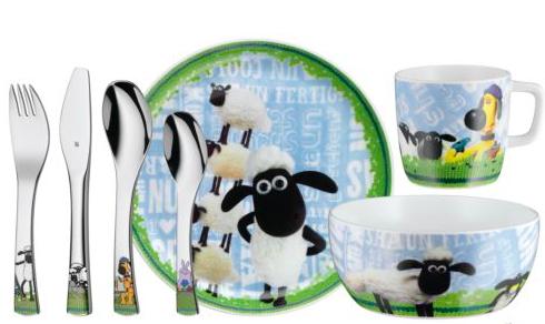 WMF Kindergeschirr `Shaun das Schaf` 7-teilig für 29,95€, versandkostenfrei bei [ebay] statt ca. 39€