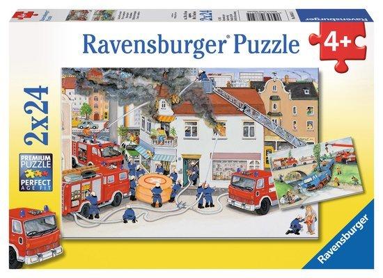 Ravensburger 08851 - Bei der Feuerwehr - 2 x 24 Teile Puzzle @ Amazon Plus Produkt